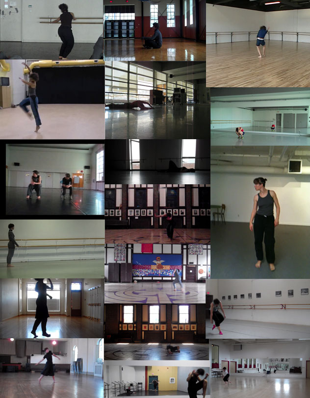 a montage of images of studios that I have danced in in recent years