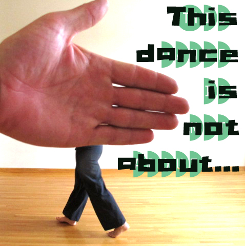 a flyer for an upcoming performance called this dance is not about